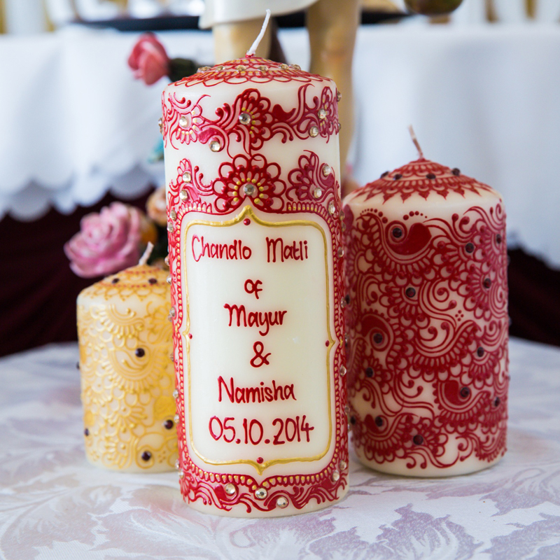 personalised candles nm bespoke wedding favours